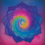 mandala vibratoire violet